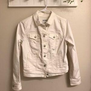 Old Navy - White Denim Jacket